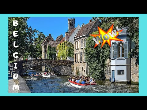 The canals of BRUGGE (BRUGES), the 'Venice of the North', BELGIUM