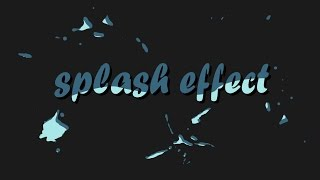 Splash animation / After Effects tutorial