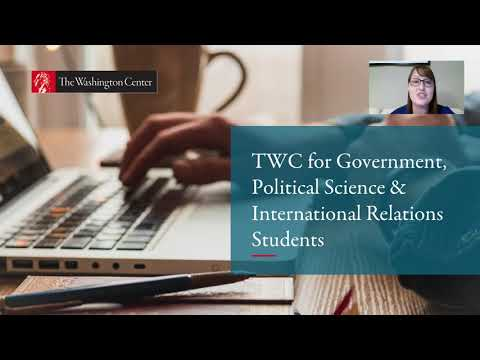 TWC for Government, Political Science & International Relations Students
