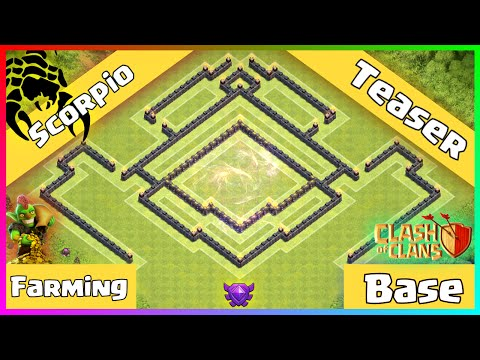 Clash Of Clans: CLASHERIFIC TH9 Dark Elixir Farming Base - Scorpio Teaser + Replays