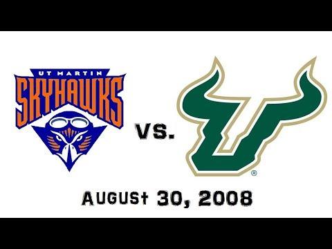 August 30, 2008 - UT Martin Skyhawks vs. #19 South Florida Bulls Full Football Game