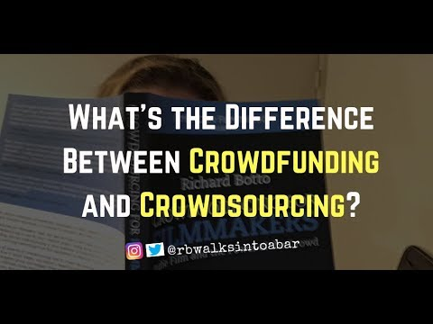 What Is The Difference Between CrowdFUNDING And CrowdSOURCING?