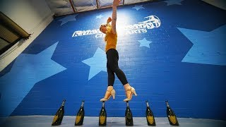 SHE CAN WALK ON GLASS BOTTLES?!?! *World Record*