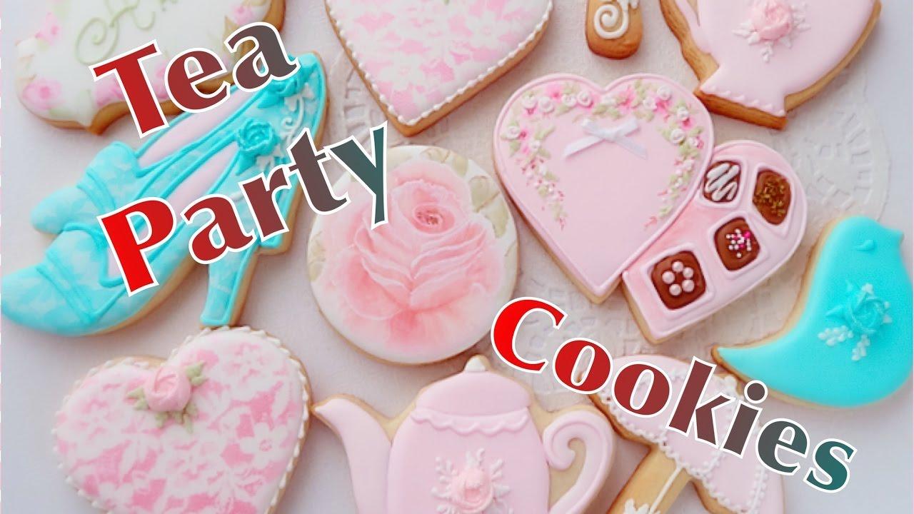 Tea Party Cookies. My little bakery. - YouTube