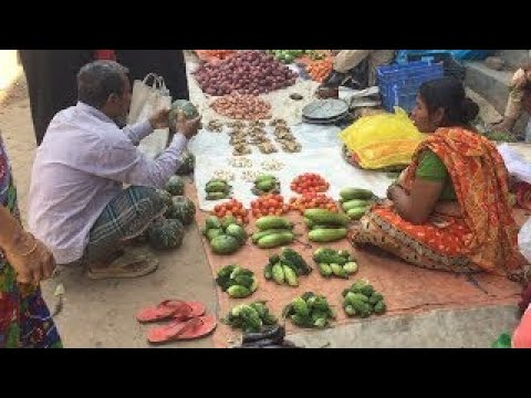 Very Simple Vegetables Market Of Simple Life Style Rustic Peoples In Side Of City Of Bangl