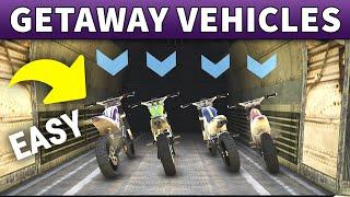 FASTEST WAY to DELIVER CASINO GETAWAY BIKES | Casino Heist Getaway Vehicles Prep Guide (GTA ONLINE)
