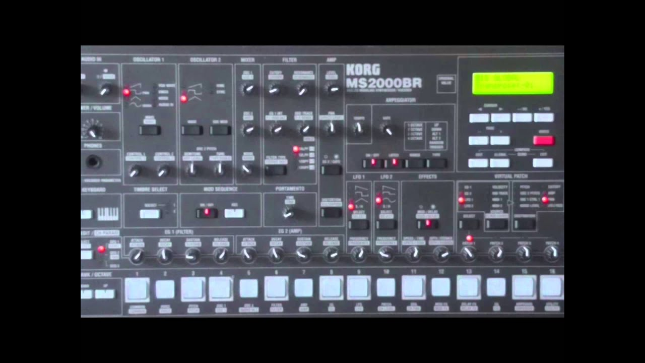 Korg MS2000BR: sound demo 1 - YouTube