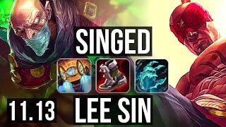 SINGED vs LEE SIN (TOP) | Rank…