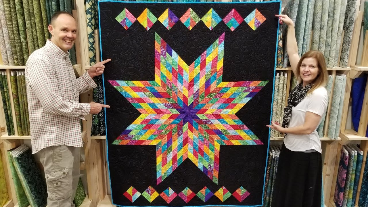 Free Pattern One Jelly Roll Lone Star Quilt Youtube