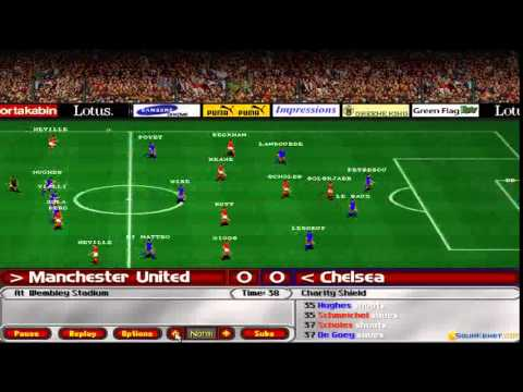 Ultimate Soccer Manager 98/99 gameplay (PC Game, 1999)