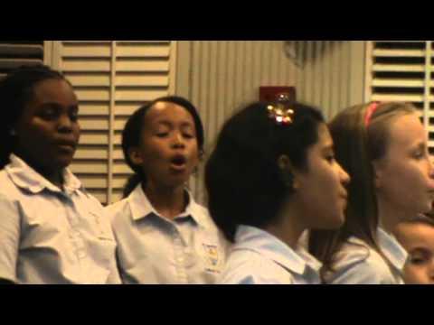 Key Stage 2 Choir singing at Music Dept. Concert