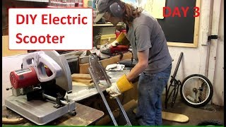 DIY Electric Scooter build - Day 3 - 1-3-2017 - Making Frame Stronger
