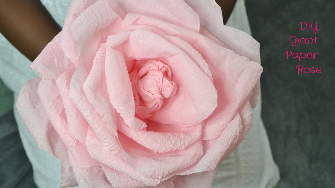 How to make a giant rose using crepe paper youtube mightylinksfo