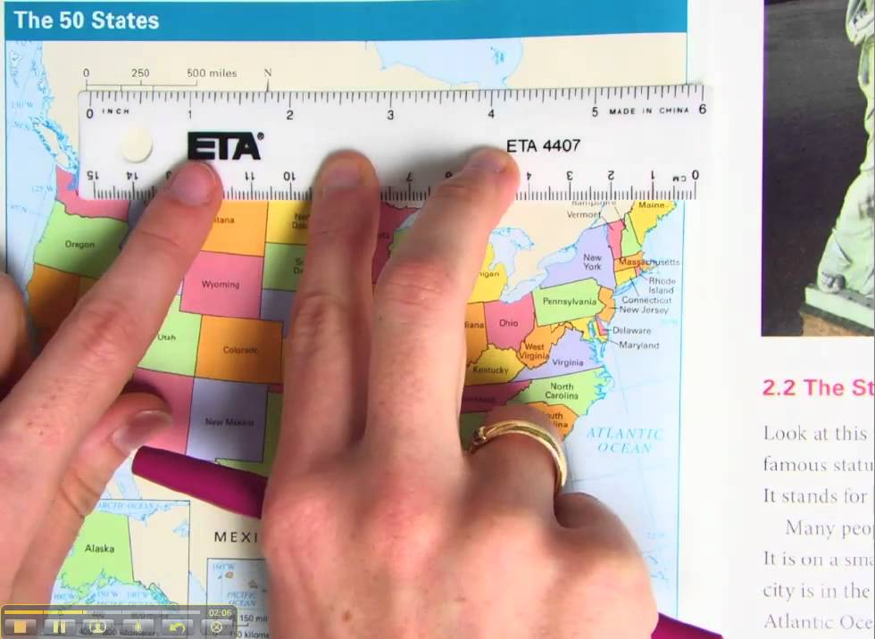 Map Distance Measure Measuring Distance on a Map Conversion   YouTube Map Distance Measure
