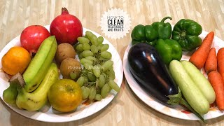 How to clean Vegetables and Fruits during Coronavirus Pandemic/ Covid-19 precaution measures