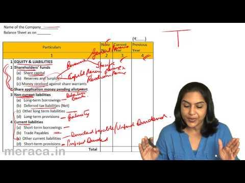 Balance Sheet  as per Schedule VI