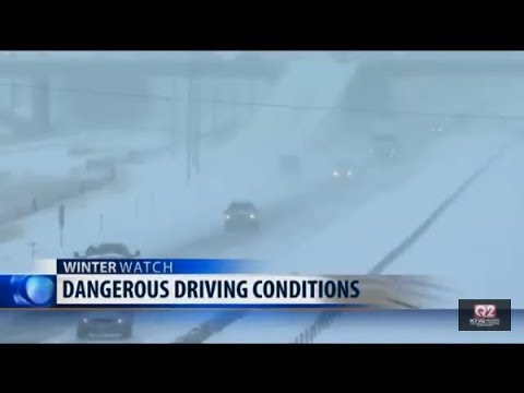 Road conditions worsen around Billings, south-central Montana