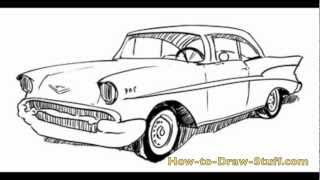 How to Draw a 57 Chevy Step by Step