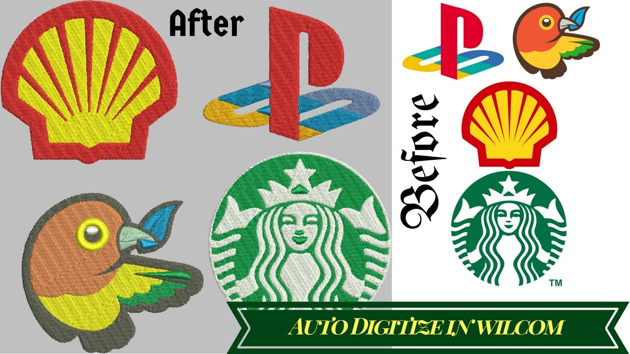 Auto Digitize Any Image In To Embroidery File Embroidery Digitizing