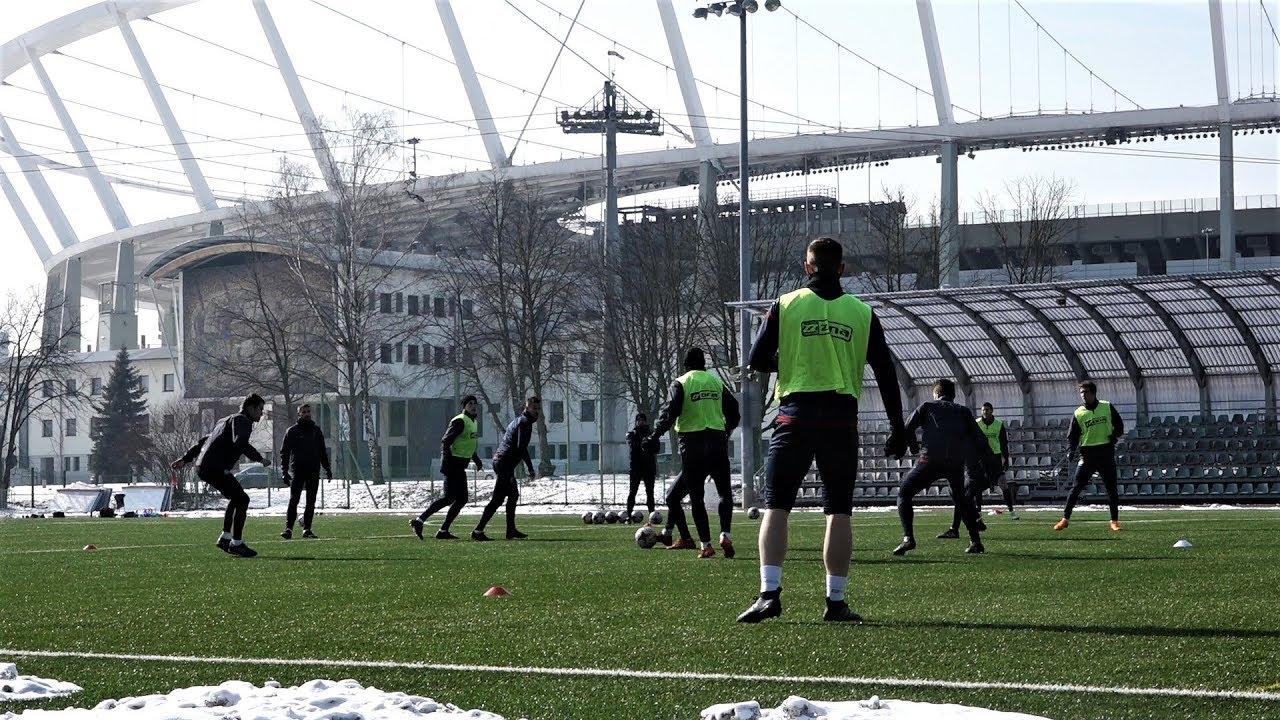 Portowcy trenowali pod Stadionem Śląskim