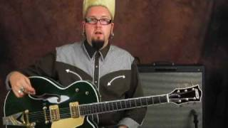 Gretsch Country Club cadillac hollowbody guitar demo bigsby
