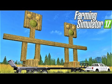 Farming Simulator 17 : VERY UGLY STRAW SCARECROW MAKING  & TRAIN VS SCARECROW
