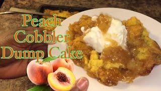 EASY BREEZY  How To Make peach cobbler dump cake