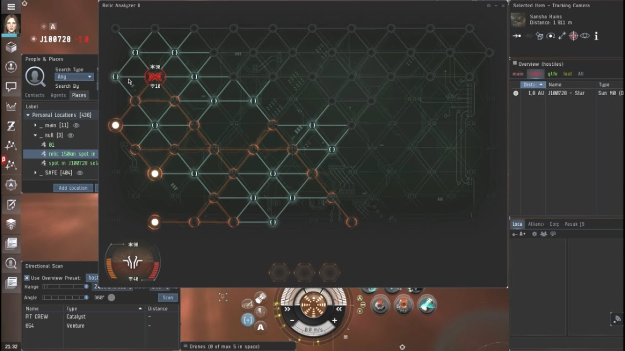 Wormhole Exploration with Astero, Rat Relic/Data Sites, EVE Online [Rhea]