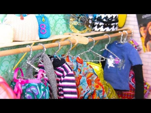 How to Make Doll Hangers - YouTube