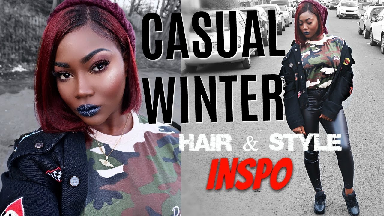 GRWM | WINTER RED BOB + STREETSTYLE OUTFIT | MY FIRST WIG 3