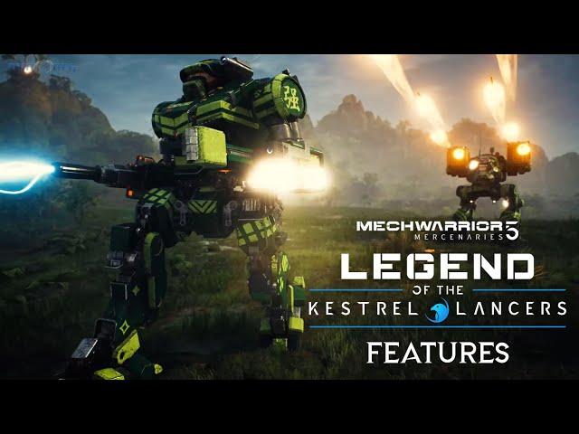 MechWarrior5 Mercenaries: Legend of the Kestrel Lancers Expansion Pack Features