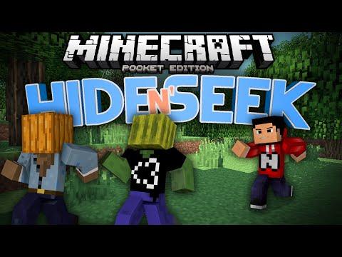 YOU'VE BEEN TROLLED!!! - Hide N Seek (Block Hunt) MCPE (ft. AA12) - Minecraft Pocket Edition