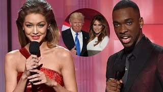 Gigi Hadid & Jay Pharoah Impersonate Melania & Donald Trump at 2016 AMAs