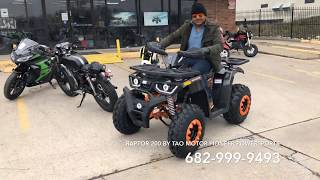 TAO MOTOR RAPTOR 200 RAND NEW 2019 FULL REVIEW | OVERVIEW | AND TEST DRIVE
