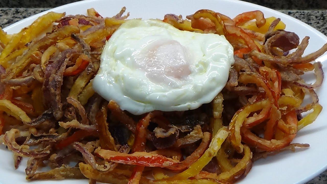 Fritura Del Huerto Con Huevo - Plato Malagueño
