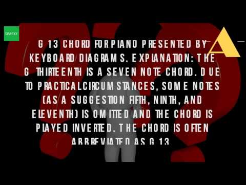 What Is The G13 Chord Youtube