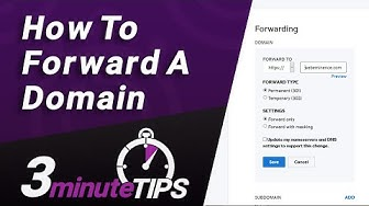 Domain Name Forwarding - Redirect one domain to another - Simple Steps + One Caveat