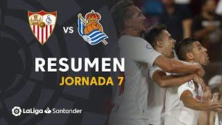 Resumen de Sevilla FC vs Real Sociedad (3-2)