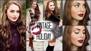 """Vintage Holiday"" Hair, Makeup & Outfits with ShopRuche.com - Jackie Wyers Thumbnail"