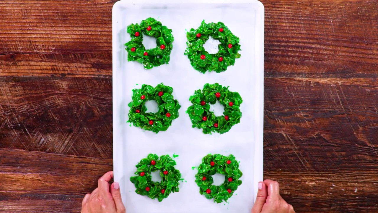 Christmas Cornflake Wreath Cookies Southern Living