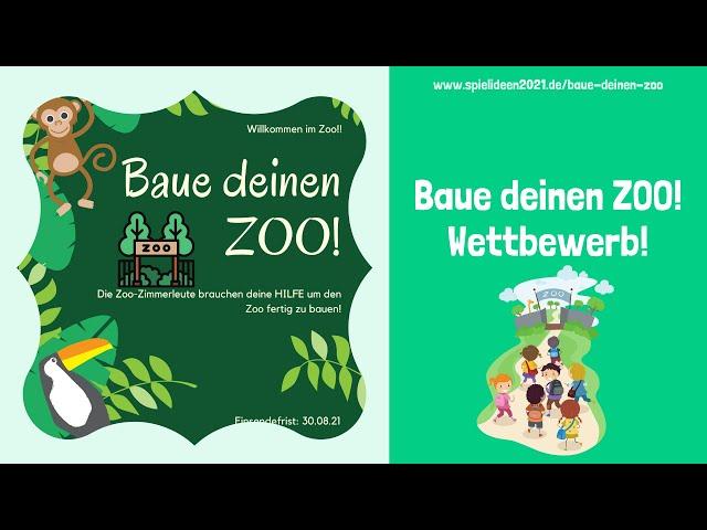 Baue deinen Zoo! Wettbewerb I Spielideen von Ben & Max - www.spielideen2021.de/GO