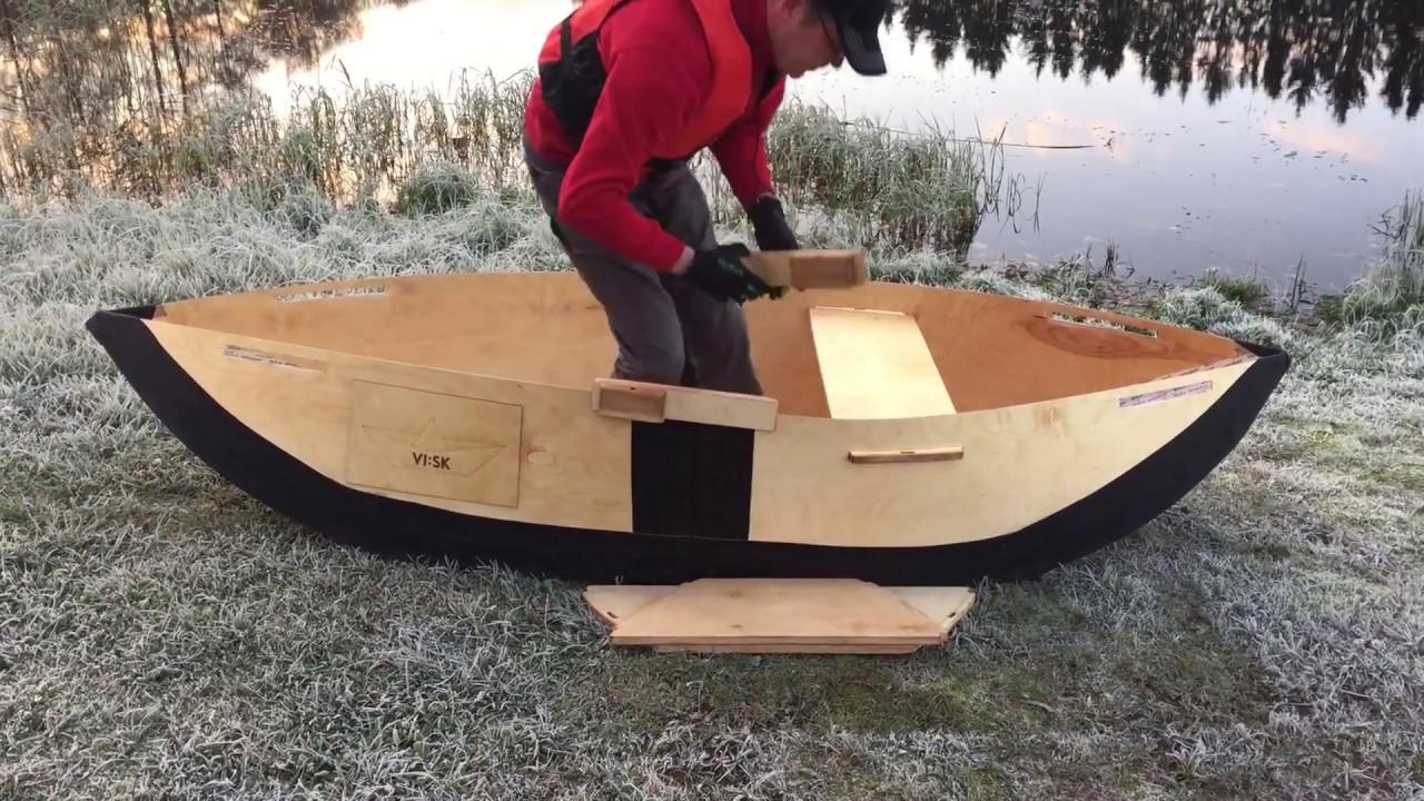 Setting up the foldable viisk plywood boat youtube