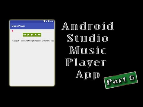 Android Studio online music player application part 6