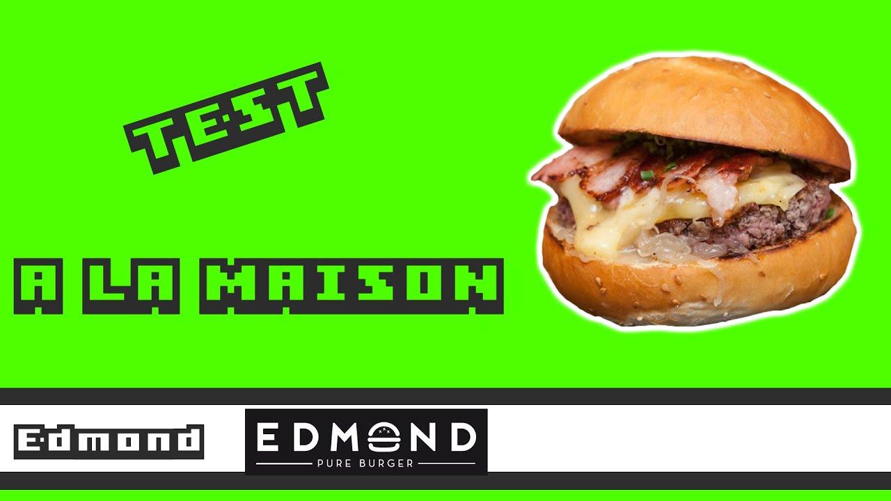 edmond edmond pure burger test la maison youtube. Black Bedroom Furniture Sets. Home Design Ideas