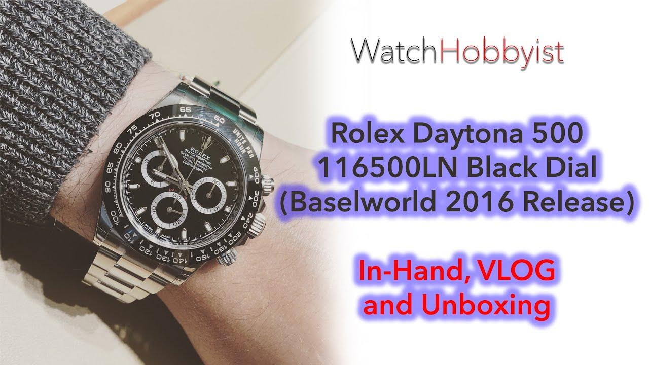 vlog unboxing in hand rolex daytona 500 116500ln steel ceramic