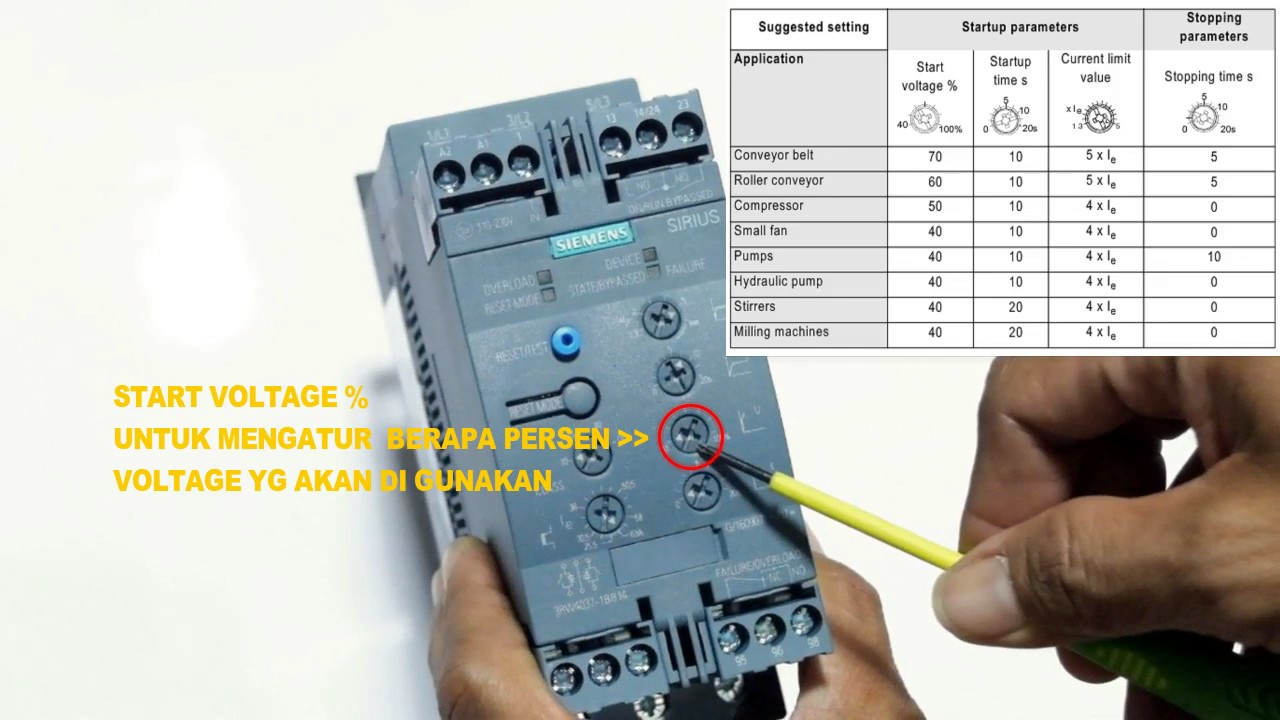 maxresdefault siemens softstarter 3rw40 setting youtube siemens soft starter 3rw44 wiring diagram at fashall.co