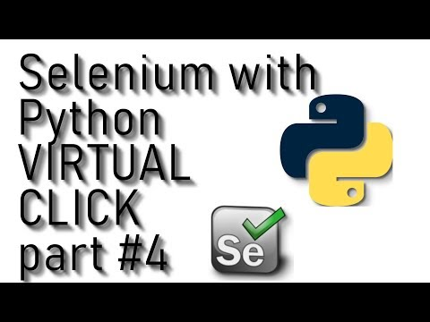 Selenium Webdriver with Python tutorial - CLICK as human part #4 thumbnail