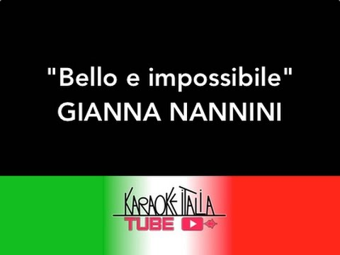 gianna nannini bello e impossibile video karaoke base. Black Bedroom Furniture Sets. Home Design Ideas