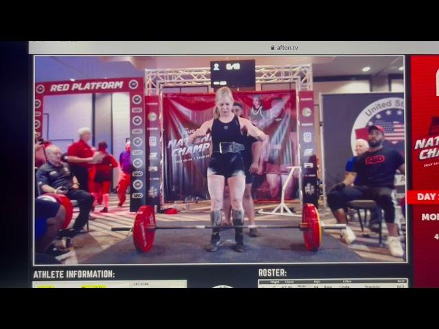 Linda Franklin - 155 kg / 341.70 lb Deadlift