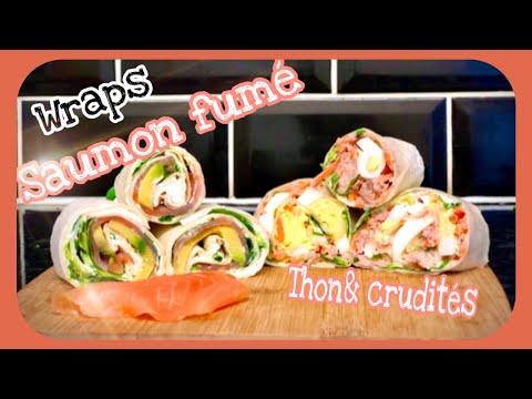 🆆🆁🅰︎🅿︎🆂-recette/-saumon-fumé-fromage/-thon-œuf-mayo-🌮-healthy-wraps-recipes
